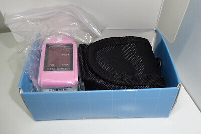 Facelake Fl400 Pulse Oximeter Wcarrying Case Batteries Neckwrist Cord Pink