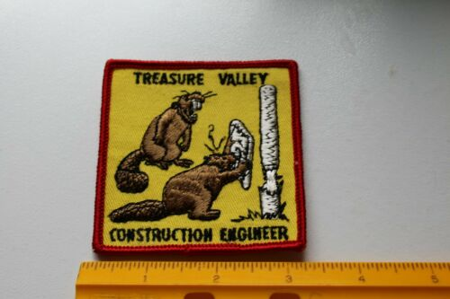 Vintage BSA Boy Scouts Treasure Valley Construction Engineer Patch /D91