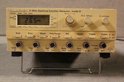 Wavetek 11 Mhz Stabilized Function Generator Model 21 H50