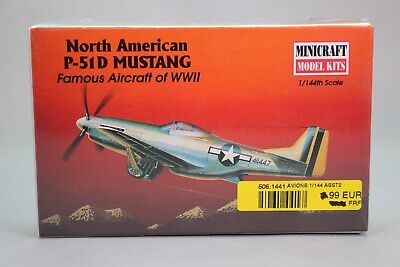 ZO048 MINICRAFT 1/144 14417 maquette avion P-51D Mustang North American WWII