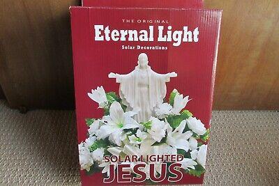 Solar Lighted Jesus Eternal Light Solar Decorations Memorial Light