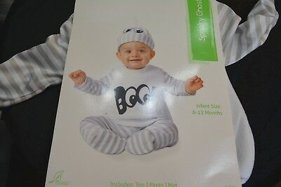 SPOOKY GHOST COSTUME INFANT size 6-12 MONTHS - Infant Ghost Costume