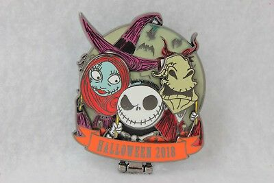 Disney Parks Halloween 2018 Pin LE Nightmare Before Christmas Jack Sally Oogie