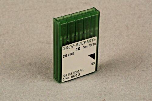 20 QTY GROZ BECKERT INDUSTRIAL EMBROIDERY MACHINE NEEDLES DBXK5 10 REGULAR 70/10