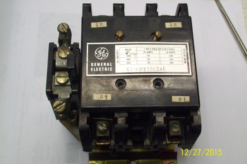 GE GENERAL ELECTRIC CONTACTOR CR161FEY00240  50 AMP