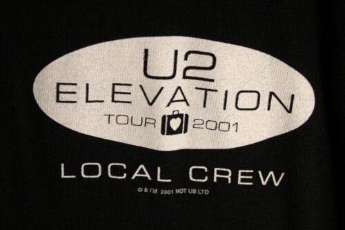 U2 Elevation Tour - 2001 Local Crew T-Shirt SIZE XL