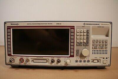 Tektronix Rohde Schwarz Cmd80 Digital Radio Communication Tester W Power Cord