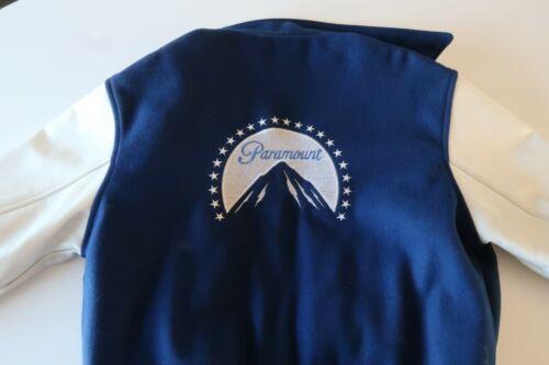 Vintage Paramount Pictures Wool Leather Varsity Bomber Jacket Size Medium - RARE