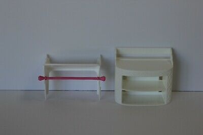 2015 Barbie Dream House Replacement Part Shoe Cabinet And Clothes Shelf White