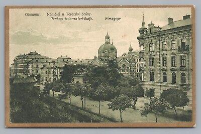 Olomouc Synagogue—Czech Republic Jewish Temple—Rare Antique Judaica STAMPS 1925