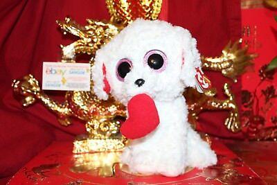 "TY BEANIE BOOS HONEY BUN THE VALENTINE DOG.MEDIUM BUDDY.9"".2017.MWNMT.NICE GIFT"