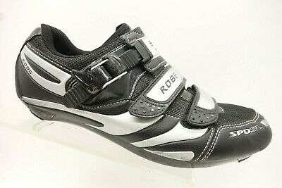 88d755f8537 Shimano R086 Black Leather Adjustable Strap Bicycle Cycling Shoes Men's 7.6