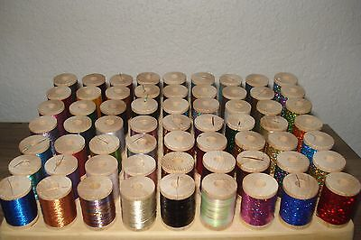 56 metallic and holographic thread for rod building 100 yard spool +FREE SHIP+