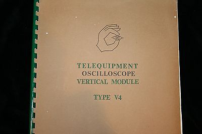 Telequipment Oscilloscope Vertical Module Type V4 Manual With Schematics