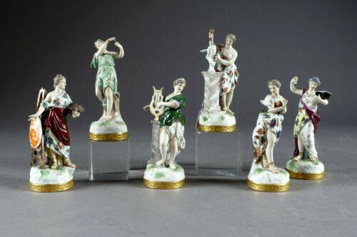 Set 6 antique german LUDWIGSBURG mark Figurine statue lady arts