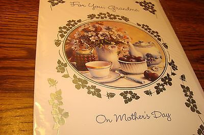 MOTHERS DAY Greeting CARD * For you, Grandma on Mothers Day / NEW   c4