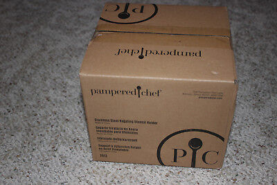 Item Holder - Pampered Chef Stainless Steel Rotating Utensil Holder Item# 2013 Tool turn about