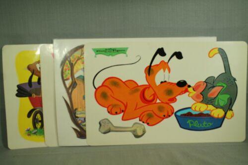 set 4 diff vintage Walt Disney vinyl placemats Ludwig Von drake Mary Poppins etc