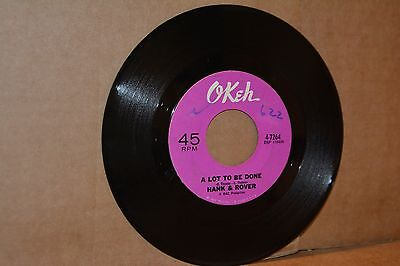 HANK & ROVER: A LOT TO BE DONE & A ROCK DOWN IN MY SOUL; OKEH VG++ DEEP SOUL 45