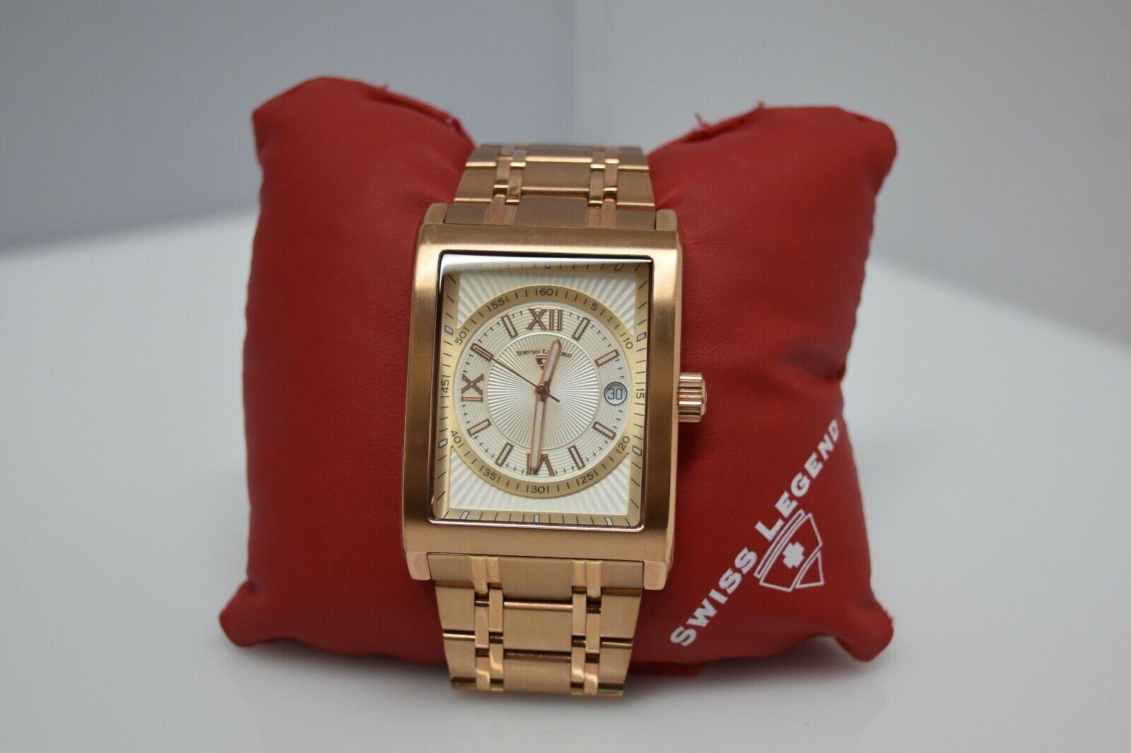 Swiss Legend Limousine Rectangle SL-30012 Watch Rose Gold/White