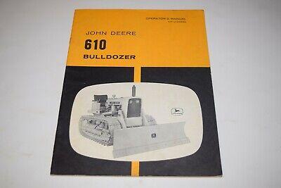 John Deere 610 Bulldozer Operators Manual