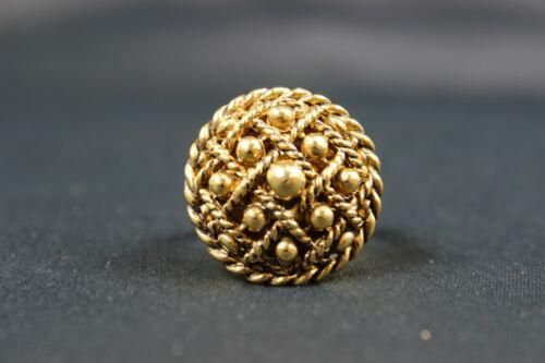 Vanda Gold Tone Vintage Poison Ring