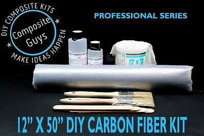 Real Carbon Fiber Fabric 12 X 50 Skinning Laminating Starter Kit 3k 2x2 Twill