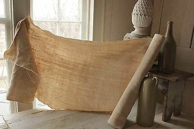 Upholstery antique linen 3.1yds Natural organic fabric linen hemp material