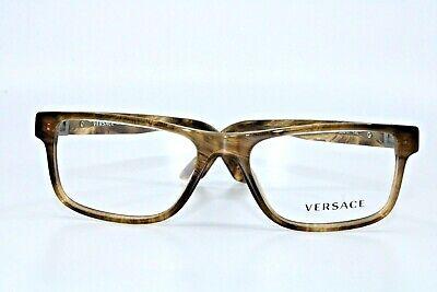 Versace VE3211 5143 Striped Havana Eyeglasses New Authentic 53