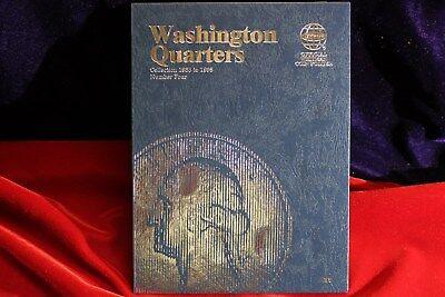 1-WHITMAN 1988-1998 QUARTER COIN FOLDER, NEW FOLDER, WHITMAN # FOUR BOOK, 9038