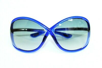 NEW TOM FORD WHITNEY TF9 90B BLUE BLUE LENS AUTHENTIC SUNGLASSES 64-14-110 MM