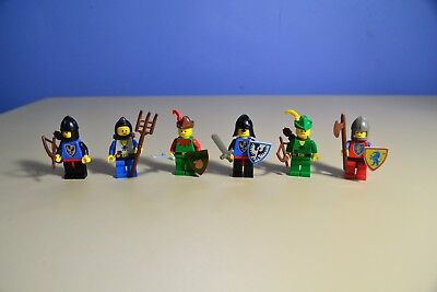 Lego 6103 Castle Knights Minifigures Legoland Knights 1988 Complete