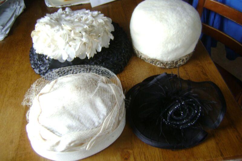 Vintage Ladies Dress Hats Lot of 4