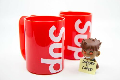 *NEW & IN-HAND* Supreme x Heller Mugs - Set of 2 - Red - FAST SHIP! cup