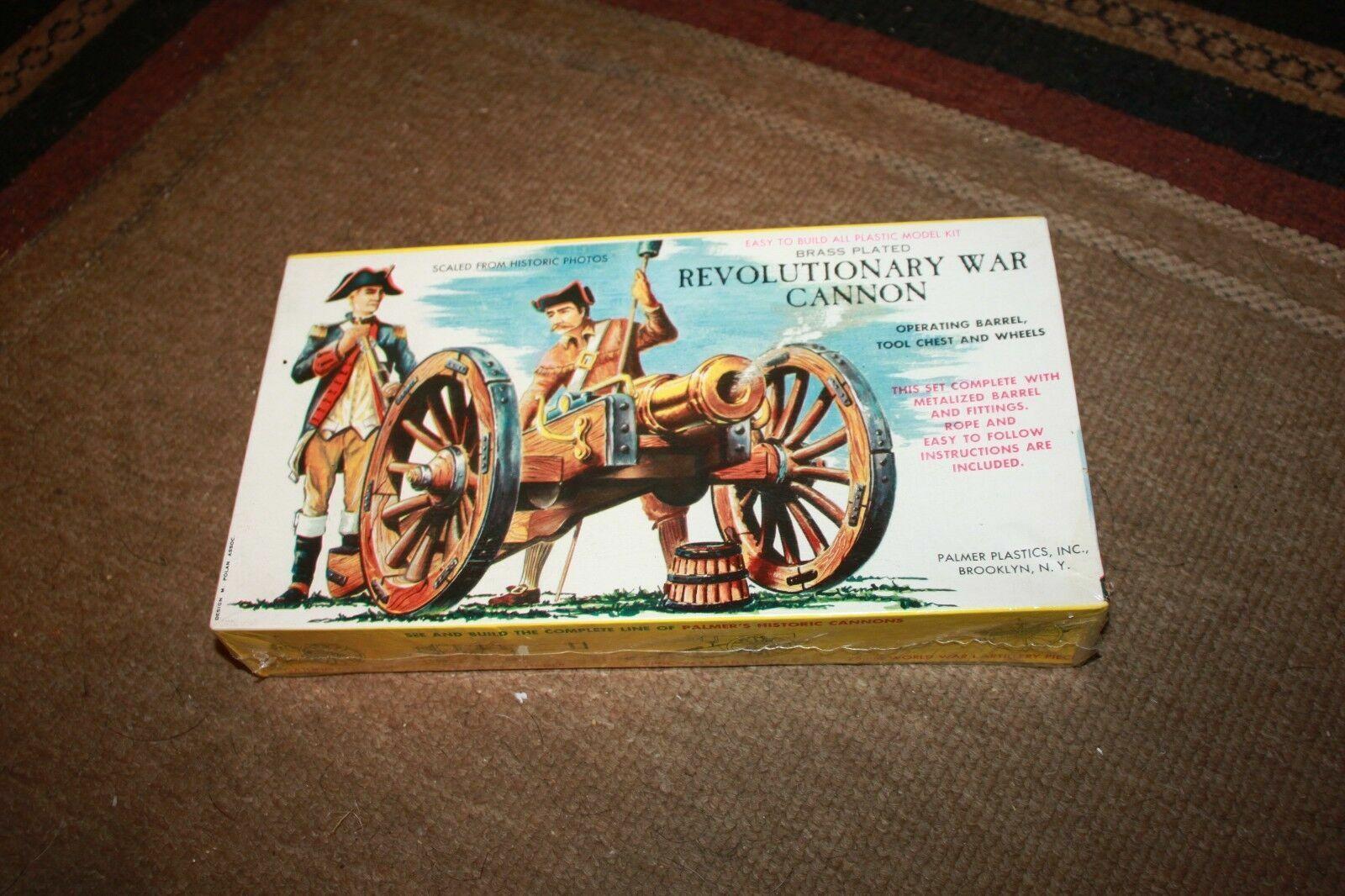 Vintage Palmer Plastics Brass Plated Revolutionary War Cannon Model
