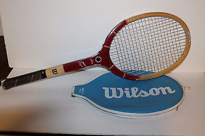 new concept e74cd b0900 VINTAGE WILSON STAN SMITH WOOD Tennis Racquet M90 4 5 8 Grip ...
