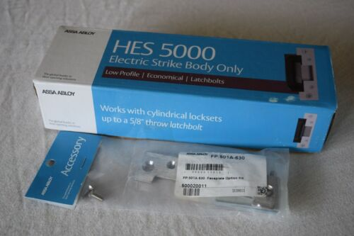 W/Optional Faceplate Kit - Hes Assa Abloy 5000 E-strike Compact electric strike