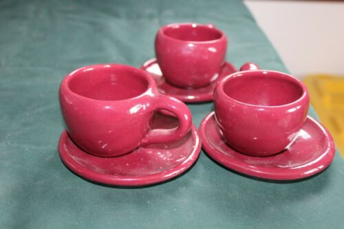 Bybee 6 Piece Children Kids Tea Set Burgundy