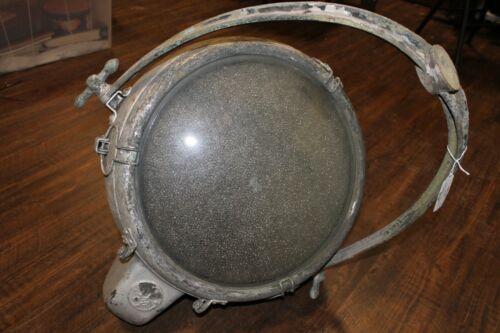 Vintage Copper Industrial Novalux Projector Spotlight by General Electric