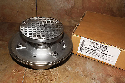 Wade Stainless Steel Adjustable Floor Drain Assembly 1100-ss