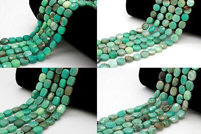 Natural Green Opal Agate Faceted Flat Natural Gemstone Loose Bead - Full Strand Opal Flat Drop