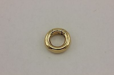 14k yellow gold 13.5mm spring circle clasp findings enhancer connector NEW