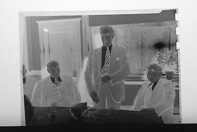 (3) B&W Press Photo Negative Business Men Suits Ties Banquet Dinner Event T3481