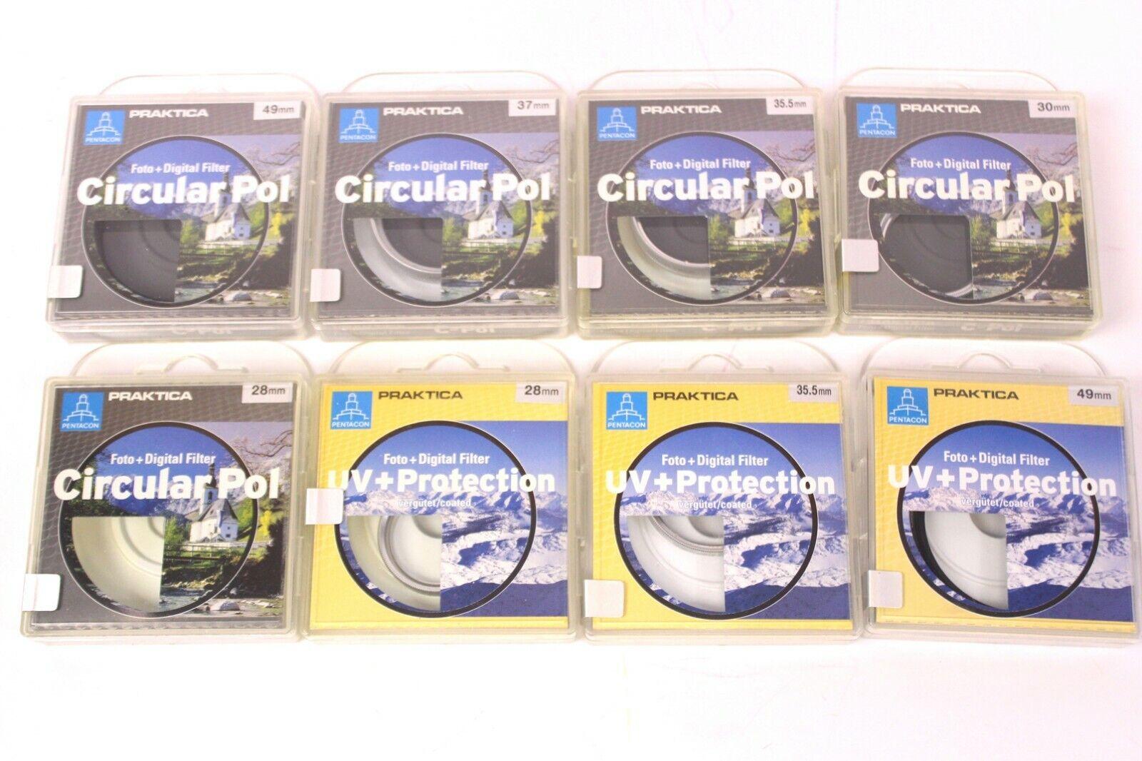 42 tlg. Set Praktica Foto Digital Filter UV+ Protection Circular Pol 28 - 49 mm