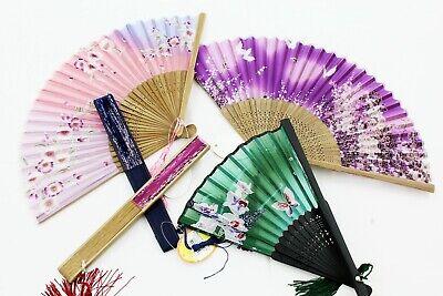 Women Hand Held Silk Folding Fans, Chinese/Japanese Vintage Retro Style Fan](Vintage Style Fan)