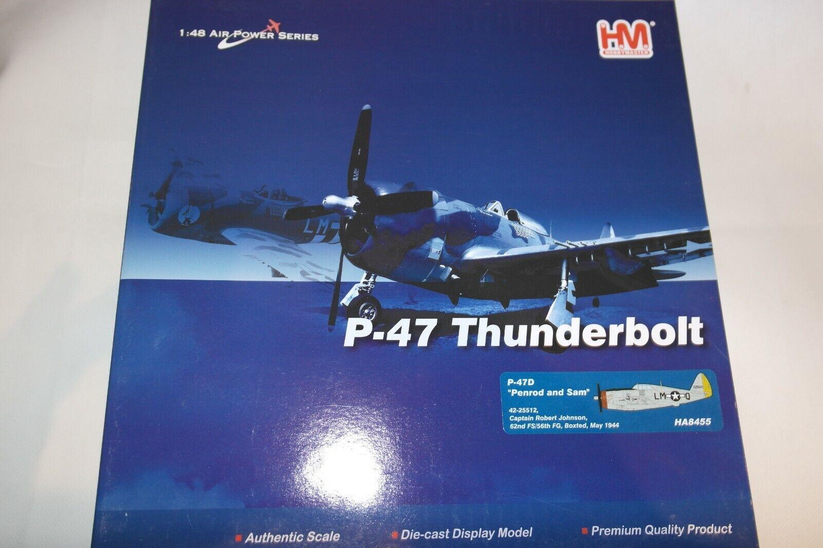 HOBBY MASTER 1:48 P-47D THUNDERBOLT PENROD AND SAM 42-25512 62ND FS 56TH FG 1944