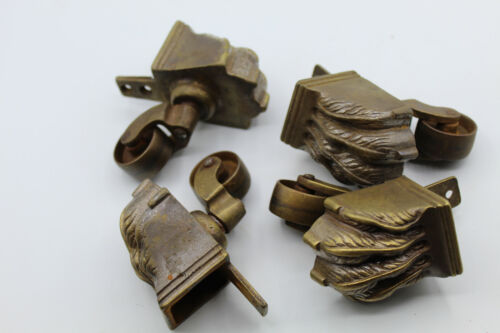(4) VTG Brass Bronze Casters Swivel Horizontal Table Furniture Lion Claw Feet