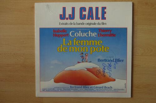 """J.J Cale Autogramm signed LP-Cover """"La Femme de mon pote - Soundtrack"""" Vinyl"""