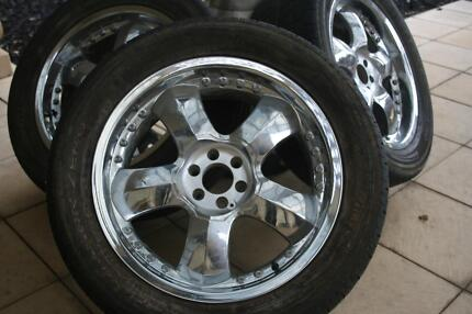 """SET OF 20"""" CHROME RIMS AND TYRES - MUST SELL! Fulham Gardens Charles Sturt Area Preview"""