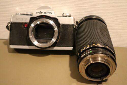 Vintage 35mm Minolta XG-7 SLR Film Camera Body SZ-X 60-300mm Lens